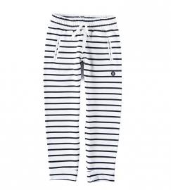 Little label sweatpants black/white stripes unisex kids