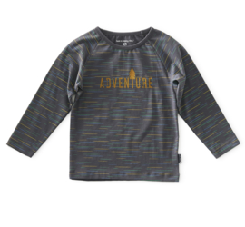 Boys is tee raglan, dark grey multi collor, Little Label