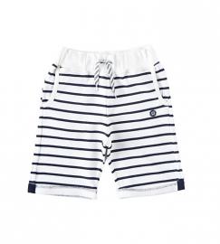 Little Label chino sweat bermuda black/white stripes