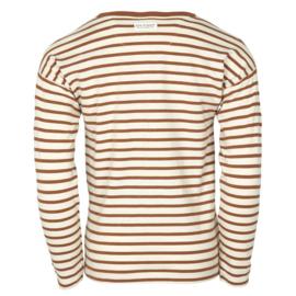Ls T-shirt-Oekotex Leather Brown, Enfant