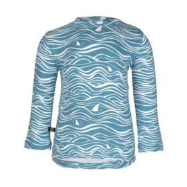 Henny longsleeve wave ocean blue, Noeser
