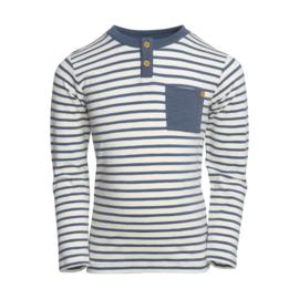 T-shirt LS Stripe Dark Slate, Enfant