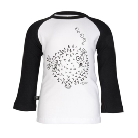 Rag raglan blowfish white, Noeser