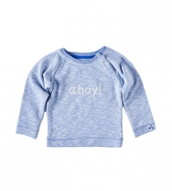 Little label Sweater light blue melees ahoy print unisex kids