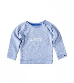 Little label Sweater light blue melees ahoy print unisex kids