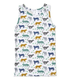 boys singlet leopard, Little Label