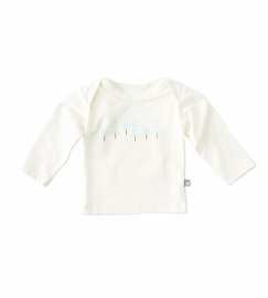 Newborn shirt ice blue chestprint, Little label