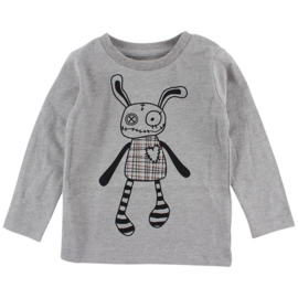 Felix LS T-shirt Grey Melange, Smallrags