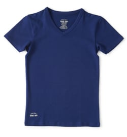 Boys t-shirt v-neck dark blue, Little label