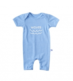 Little Label babysuit blue melee baby