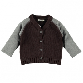 Imps&Elfs Cadigan Long Sleeve Brownie/Night Grey
