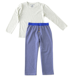 Boys pyjama-set kobalt blue melee stripe, Little Label