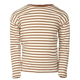 Ls T-shirt-Oekotex Leather Brown, Enfant