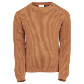 Kint pullover leather Brown, Enfant