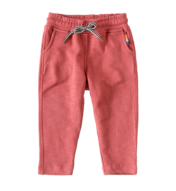 Sweatpants slub washed red, Little Label