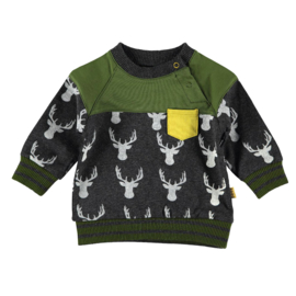 Sweater AOP Deer Anthracite, Bess