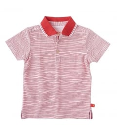 Little Label polo shirt red stripes kids