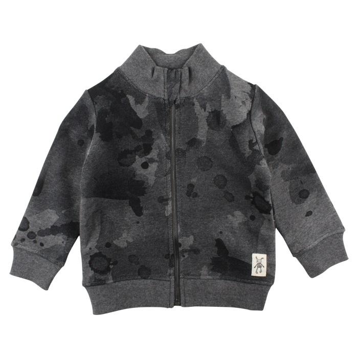 Danny Cardigan Dark Grey Black, Small Rags
