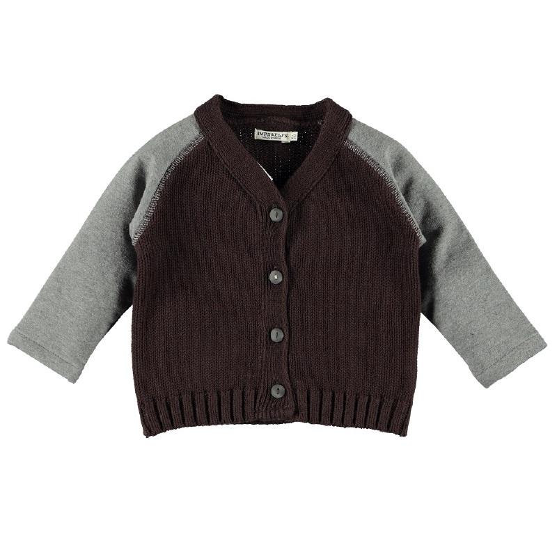 Imps&Elfs Cadigan Long Sleeve Brownie/Night Grey