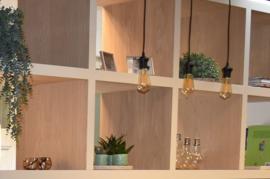 Roomdivider op maat gemaakt, passend bij het interieur.