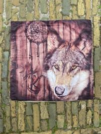 Kussenhoes Wolf met Dromenvanger