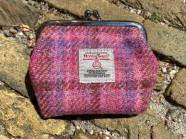Harris Tweed portemonnee Pink check