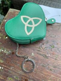 Groene portemonnee met Triquetra