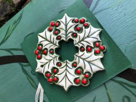 Kerstkrans van keramiek
