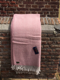 Plaid: Visgraat Oud Roze/Parelgrijs