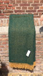 Plaid: Visgraat Mosterd/Groen