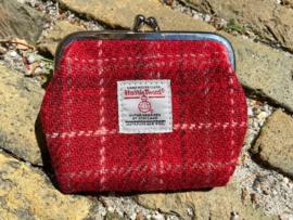 Harris Tweed portemonnee Red check