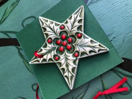 Kerstster van keramiek