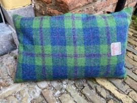 Harris Tweed Groen/Blauw/paarse ruit Small