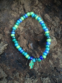 Geluks-armbandje Blauw-Groene Tinten