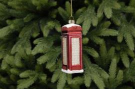 Glazen telefooncel kerst decoratie