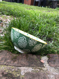 Porseleinen Kom Keltische Knoop