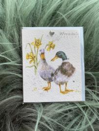 GE048 Wrendale minikaartje Eenden