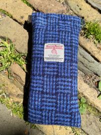 Harris Tweed Bril etui Blue Basket Weave