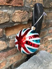 Union Flag glazen kerstbal