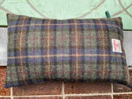 Harris Tweed Donker mosgroen/donkerblauw/bordeaux streepje Small