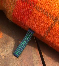 Harris Tweed Oranje ruit