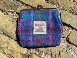 Harris Tweed portemonnee Purple Multi check