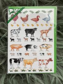 Kaart CC280 Farm Animals