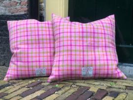 Harris Tweed Roze geruit