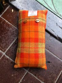 Harris Tweed Oranje/Mosgroen Small