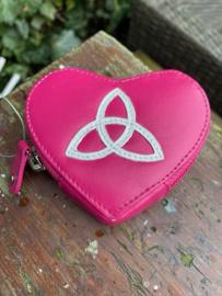 Roze portemonnee met Triquetra