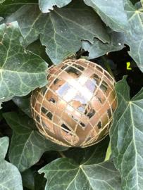 Transparante goud geruiten bal