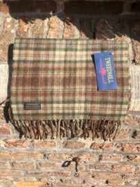 Lamswollen sjaal Country Check Olive