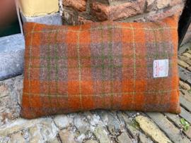 Harris Tweed Engels rood/choco/groene ruit Small