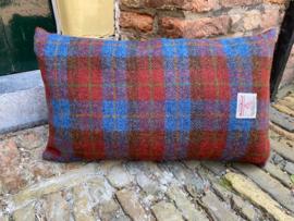 Harris Tweed Engels rood/Blauwe ruit Small